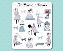 Load image into Gallery viewer, Winter Primrose Illustrations Sticker Sheet