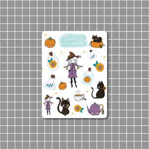 Witchy Sticker Sheet - Halloween - Primrose Collection