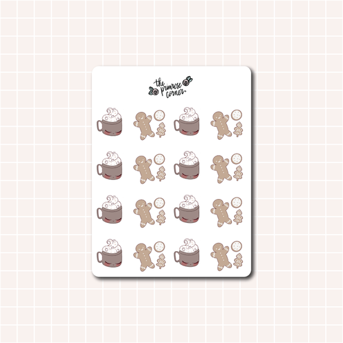 Cozy Cocoa and Cookies Sticker Sheet