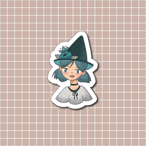Blue Witch Vinyl Sticker Decal