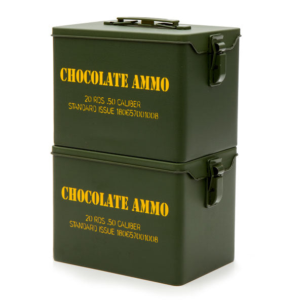 Chocolate Bullet-Military Style Tin With 20 .5 Caliber Chocolate Ammo