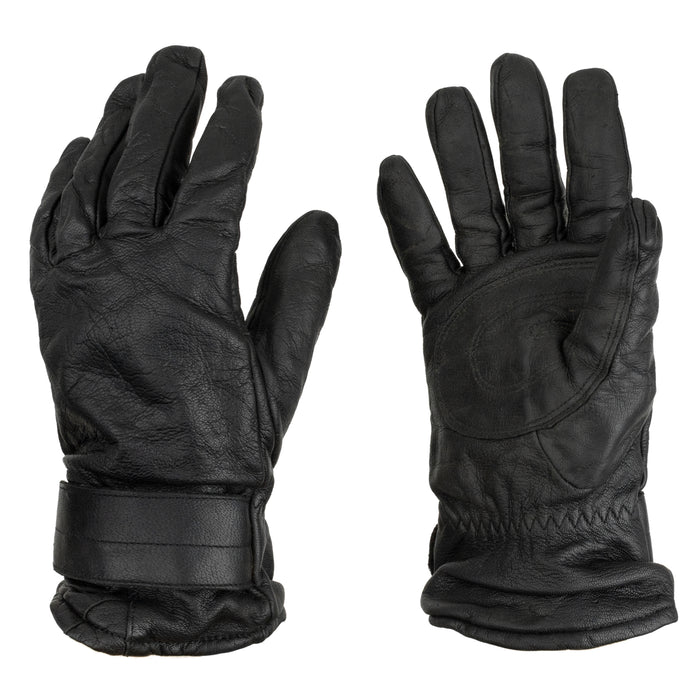 Black Austrian Leather Work Gloves | Wool Lining