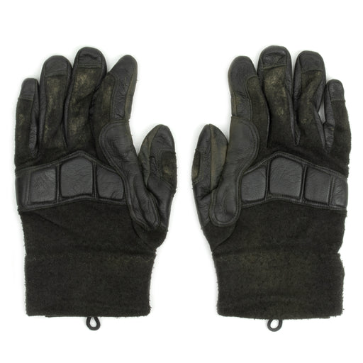 Black Austrian Leather Tactical Gloves | Padded Knuckles