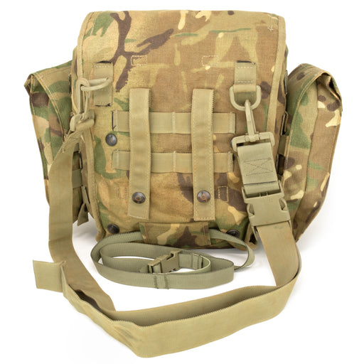 British Army Multi-Cam Gas Mask Bag with Molle Straps