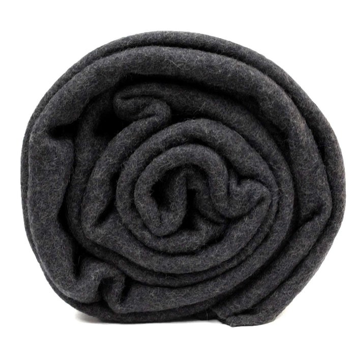 New Charcoal Grey Wool Blanket, Swiss Link