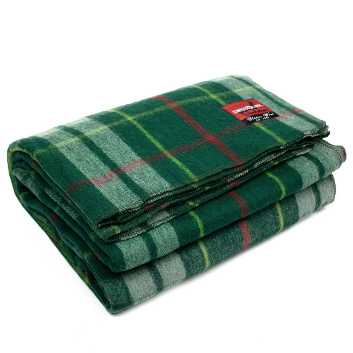 New Plaid Wool Blanket (Green)