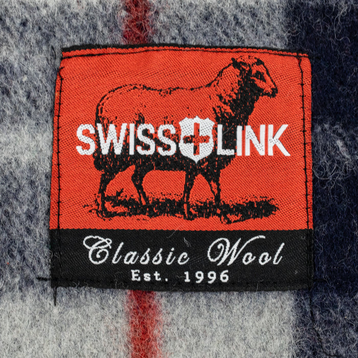 New Plaid Wool Blanket, Swiss Link Classic Wool
