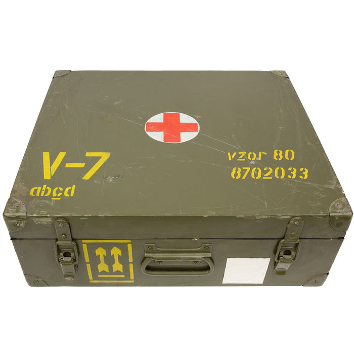 Czech Army Wooden Medical Box