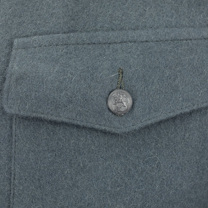 finnish wool coat blue pocket