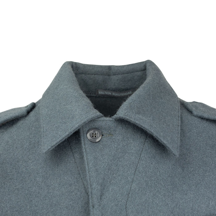 finnish wool jacket collar blue