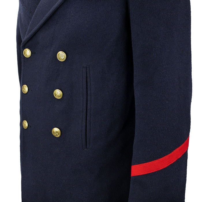 French Military Navy Pea Coat