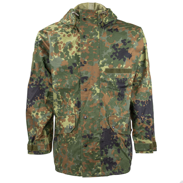 German Flecktarn Parka Front