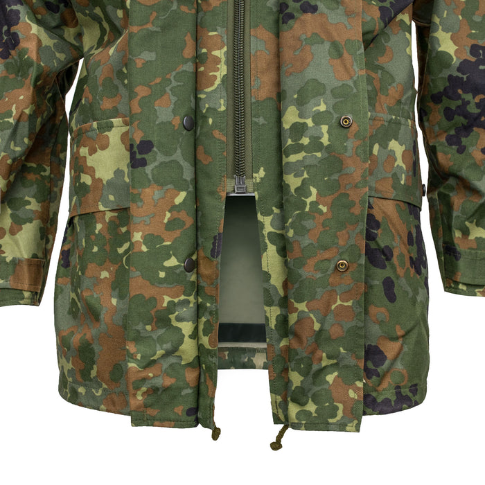 German Flecktarn Parka Front Zipper