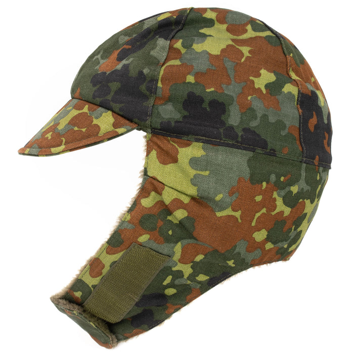 Military Camo Flecktarn Winter Hat