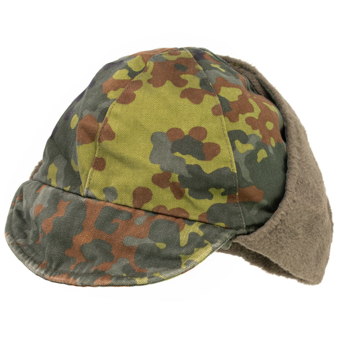 German Flecktarn Winter Cap Used