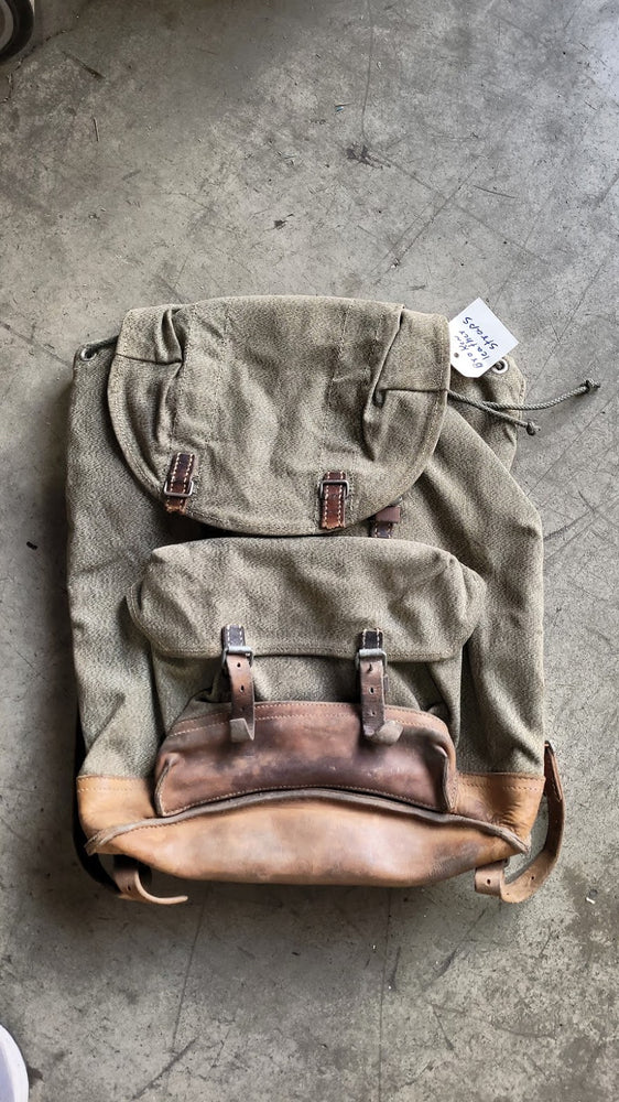 Swiss Salt & Pepper Backpack 64' | Torn Leather Straps