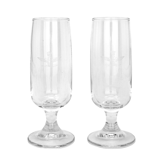 Italian Air Force Champagne Glass (2-Pack)