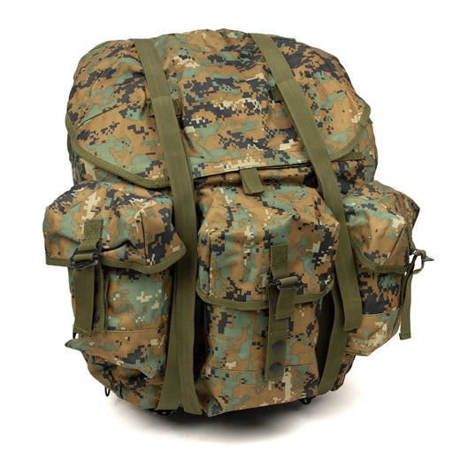 New Alice Pack | MARPAT style Multi-Cam Digital Camo, Metal Frame Front