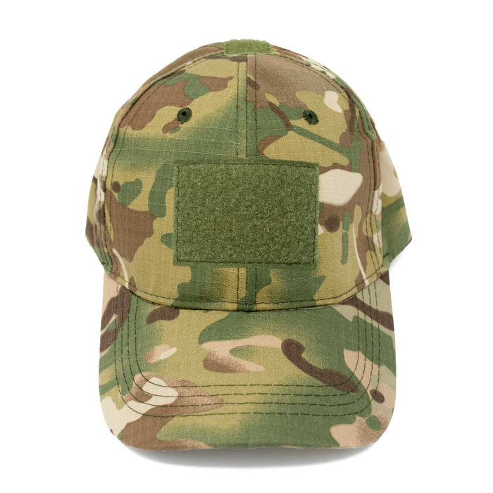 Adjustable Multi-Cam Tactical Rip-Stop Hat Front