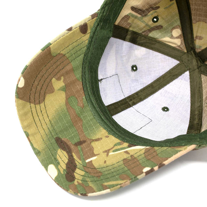 Adjustable Multi-Cam Tactical Rip-Stop Hat Bill