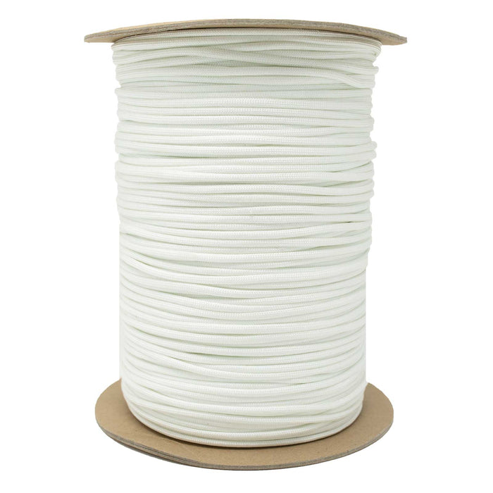7 strand 550 Paracord 1000 ft White