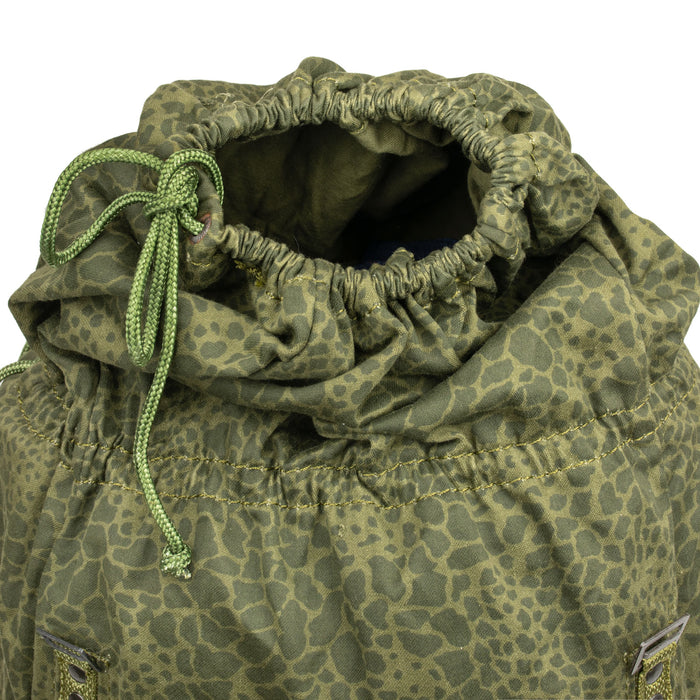 Polish Army Leopard Camo Backpack Drawstring Closure