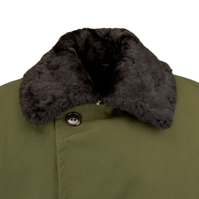 Real Fur Polish Military Coat