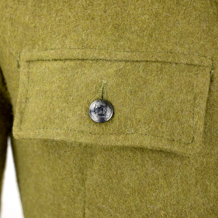 Romanian wool jacket coat olive drab O.D.