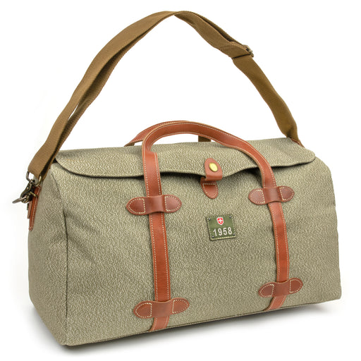 Swiss Salt & Pepper Duffel Bag | Reproduction