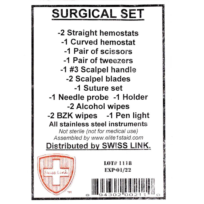 New Stainless Steel Surgical Set, Swiss Link