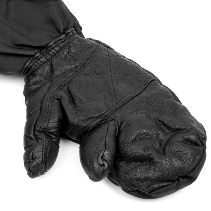 Swiss Cold Weather Trigger Mittens | Insulated Leather Gloves