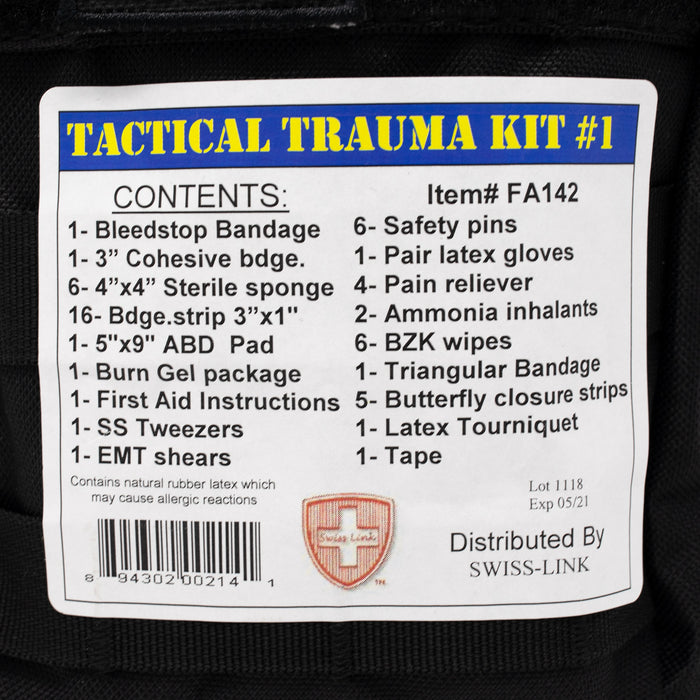 Tactical Trauma Kit, Swiss Link Military Surplus