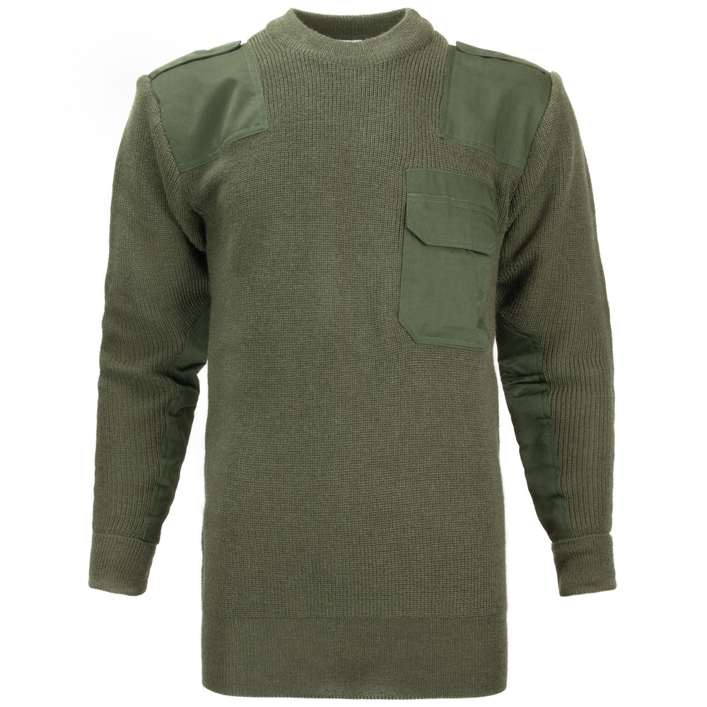German Army Wool Commando Sweater Reproduction | Black & Olive Drab