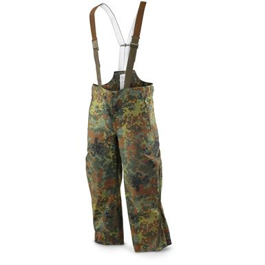 German Flecktarn Sympatex Pant/Bib Used