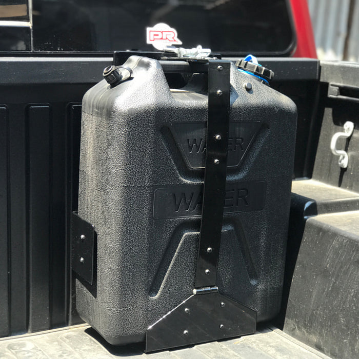 Wavian Heavy-Duty Jerry Can Holder Black Powder Coated Front-Loading
