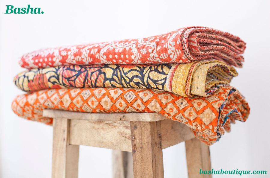 Standard Vintage Kantha Throw M1