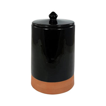 Lidded Terracotta Jar black