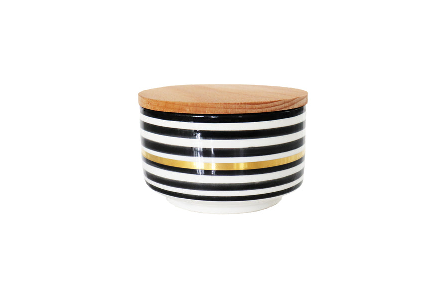 Not Just A Candle:  Large Ceramic Zwak/Striped