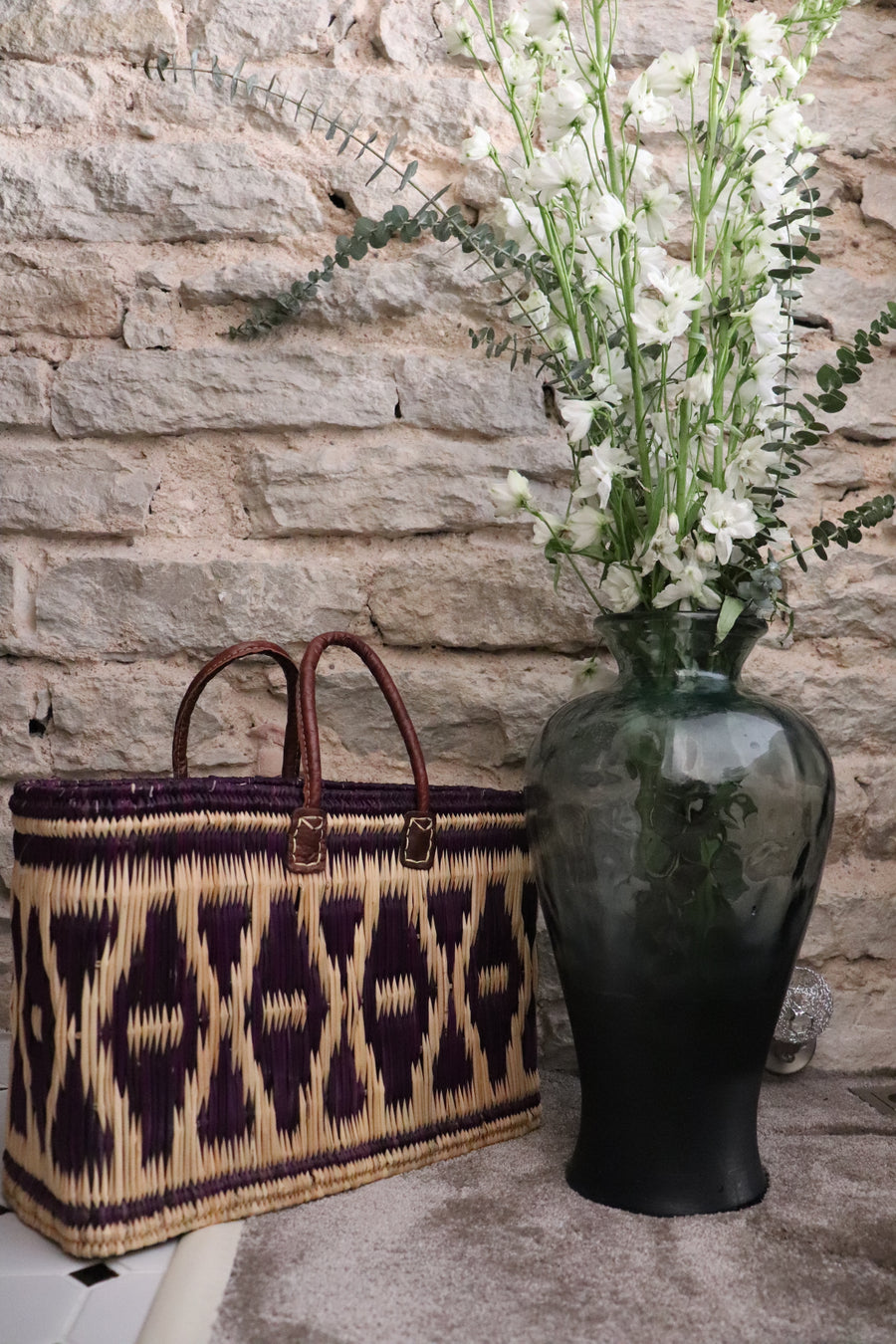 Moroccan Bulrush Tote Diamonds