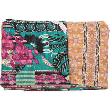 Double Vintage Kantha Throw H1