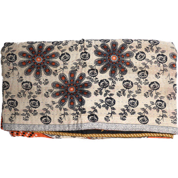 Standard Vintage Kantha Throw: Josna's Autumn