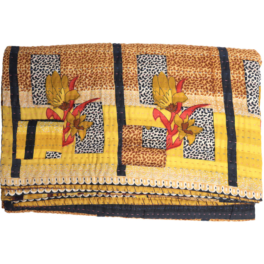Double Vintage Kantha Throw H10