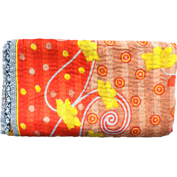 Standard Vintage Kantha Throw: Shan's Sunshine