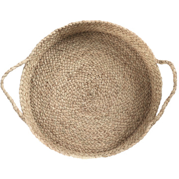 Braided Raffia Tray