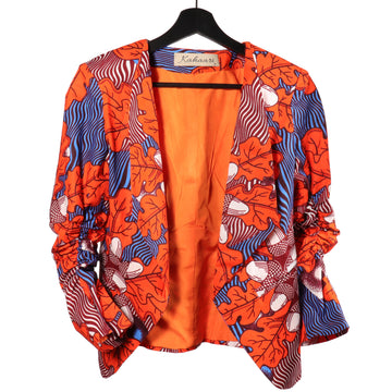 Rehema Orange Ruffled sleeve Jacket