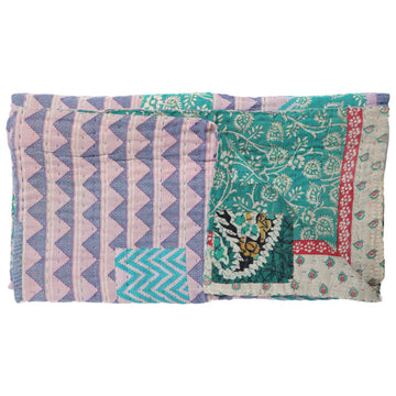 Mini Vintage Kantha Throw A5