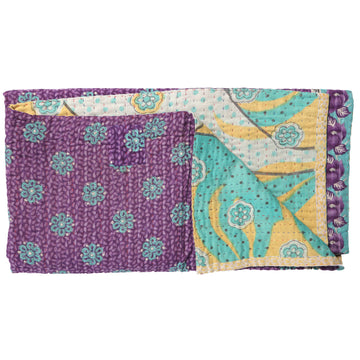 Mini Vintage Kantha Throw A6