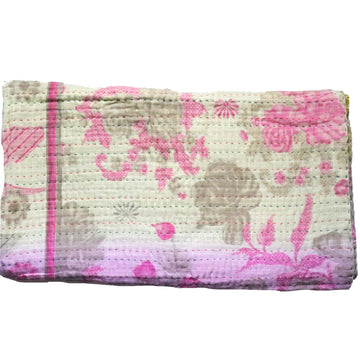 MINI Vintage Kantha Throw A1