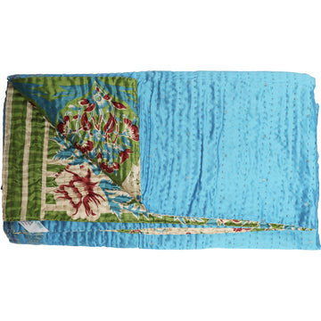 Standard Repurposed Luxe Kantha Throw L1
