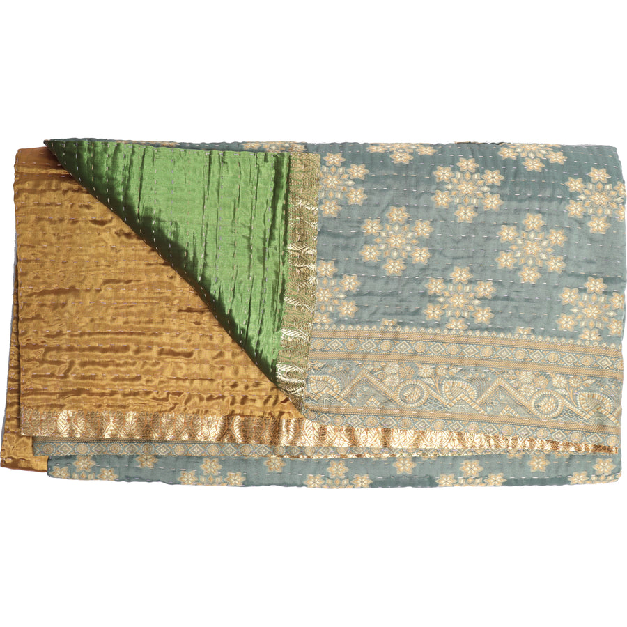 Standard Repurposed Luxe Kantha Throw L2
